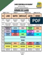 Horario de Clases Planificacion Diaria 2018 - 2019