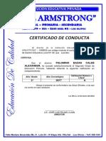 Certificado de Conducta