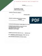 El Chapo Trial Jury Questionnaire 6.27.18