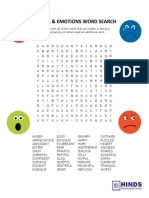 Moods Emotions Word Search