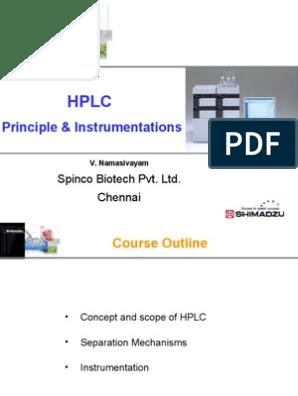 Principle and Instrumentation | Chromatography
