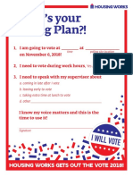 "Housing Works ""What's Your Voting Plan?!"" sheet 2018"