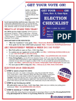 Housing Works Get Out the Vote, Election Day 2018 Fact Sheet
