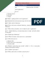 Mechanical -3rd Year Assignment