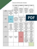2018-2019 ap research calendar