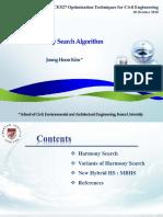 Class 20181030 Harmony Search Algorithms