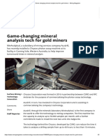 Game-changing Mineral Analysis Tech for Gold Miners - Mining Magazine