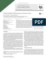 Consumer Behavior in Social Commerce - A Literature Review