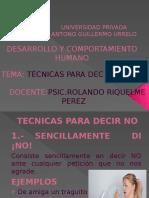 TECNICAS PARA DECIR NO.pptx