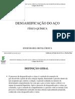 Fisico Quimica - Processo de Desgaseificação