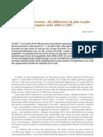 les très hauts revenus en France 2004 à 2007
