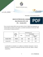 Comunicado de Prensa IPC Octubre 2018