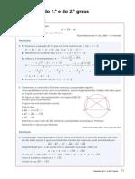 Equações 1º e 2º grau