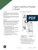 3-FIB Fiber Optic Communications Interface Install Sheet