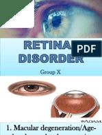 Retinal Disorder Group x