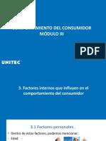 Factores Internos que influyen en el comportamiento del consumidor . Módulo3