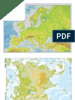 Examen Mapas Fisicos Mudos Mundo