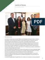 31-10-2018 - Reconoce EU educación en Sonora - Nuevo Día