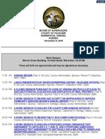 Fauquier Supervisors Agenda 11 8 2018