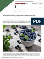 Arándano Peruano Se Consolida en El Mercado Chino - MinceturMincetur