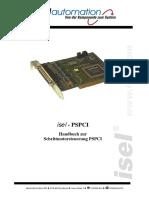 Handbuch zur Schrittmotorsteuerung PSPCI