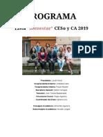 Programa CESo y CA 2019