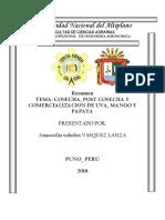 Cosecha, Post Cosecha y Comercializacion de Uva, Mango y Papaya