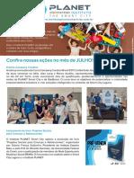 Boletim Mensal Instituto Planet_julho 2018 Final