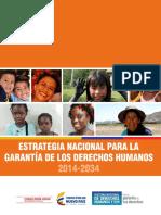 Estrategia Nacional Para La Garantía de Los Derechos Humanos 2014-2034