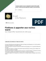 Réseau de Permaculture d'Alsace _ Finitions à Apporter Aux Ruches