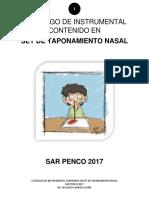 Catalogo Set Taponamiento Nasal Sar