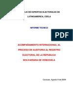 Informe Auditoria Registro Electoral CEELA