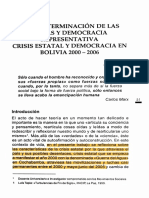 Crisis estatal boliviana (2000-2006). Jorge Viaña, Revista Temas Sociales, Universidad Mayor de San Andrés, La Paz, Bolivia.