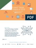 CB Insights Fintech Trends 2018