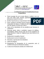 Requisitos y Procedimiento Para La Constitución de Una Cooperativa