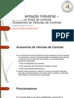instrumentação industrial - valvulas de controle, professora denise