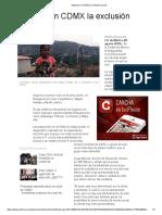 Mapean en CDMX La Exclusión Social