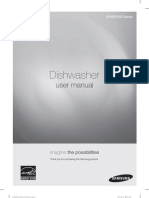 Samsung Dishwasher Model DW80F600 Manual