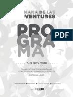Programa Semana de las Juventudes 2018