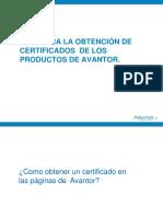 Guía para descargar certificados