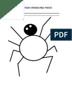 Pattern Spider Pre-Write