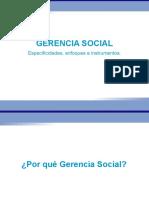 El Por Que de La Gerencia Social