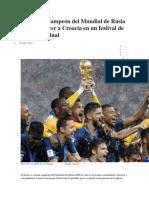 Francia Campeon