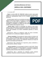 Características Mecánicas Del Acero