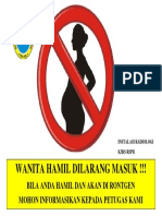 Wanita Hamil Dilarang Masuk Rspr