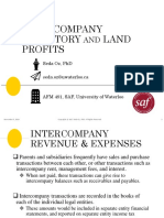 6 Intercompany Land and Profits