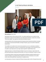 30-10-2018 - Entrega Secretaría de Salud Prótesis Dentales - Termometroenlinea