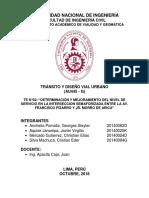 Determinación y mejoramiento del nivel de servicio en la intersección de la Av. Pizarro con la Av. Muro de Arica