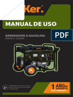 Manual de uso generador eléctrico