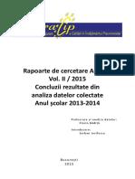 Rapoarte de Cercetare Aracip - Vol. 2